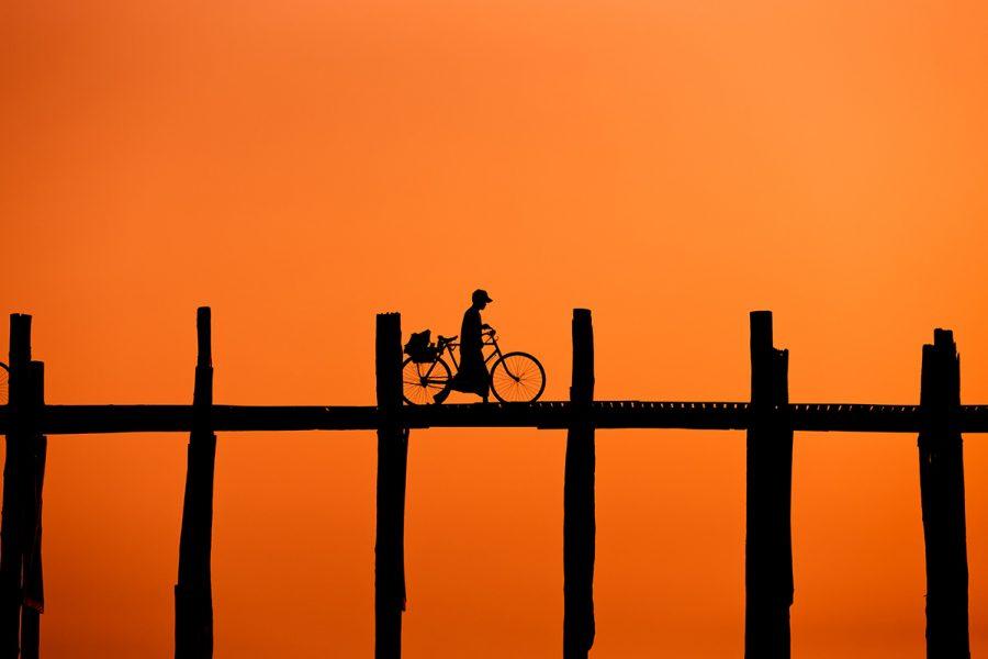 coucher de soleil en Birmanie