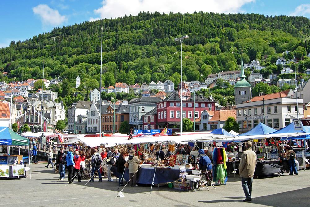 Marché aux poissons de Bergen
