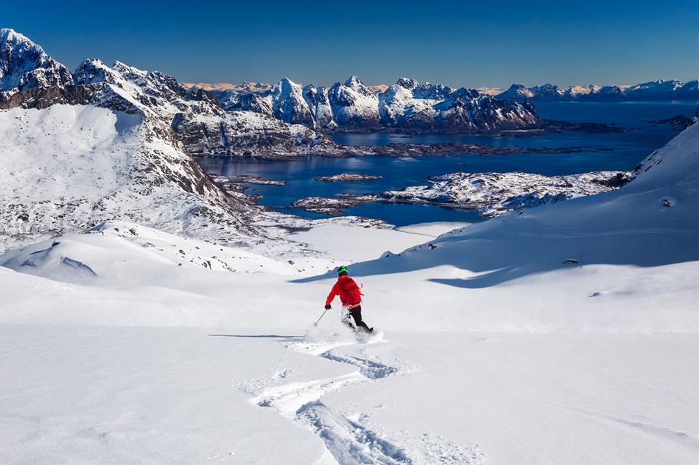 Ski dans les îles Lofoten