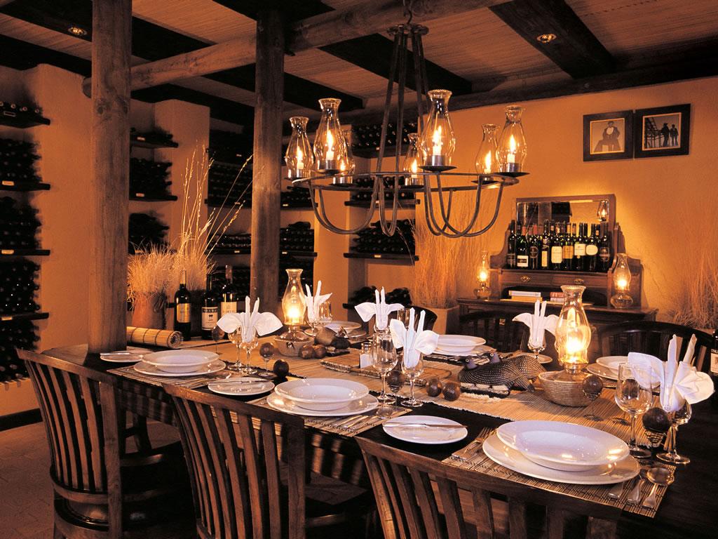 salle a manger du Wolwedan Dune Lodge